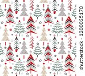 seamless christmas pattern with ... | Shutterstock . vector #1200035170