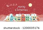 merry christmas town... | Shutterstock .eps vector #1200035176