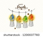 vector illustration of diwali... | Shutterstock .eps vector #1200037783
