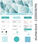 light blue vector ui ux kit in... | Shutterstock .eps vector #1200038296