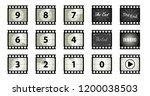 Old Filmstrip Vintage The End...