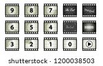 film vintage the end cinema... | Shutterstock .eps vector #1200038503