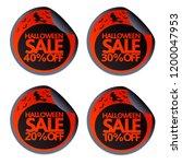 halloween sale stickers with...   Shutterstock .eps vector #1200047953
