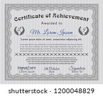 grey diploma template or... | Shutterstock .eps vector #1200048829