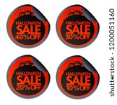 halloween sale stickers with...   Shutterstock .eps vector #1200051160