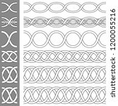 braided  intertwined lines... | Shutterstock .eps vector #1200055216