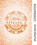 advance abstract orange mosaic... | Shutterstock .eps vector #1200064336