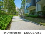 walk way of modern residential... | Shutterstock . vector #1200067363