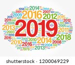 2019 happy new year and... | Shutterstock .eps vector #1200069229