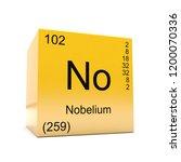 nobelium chemical element... | Shutterstock . vector #1200070336