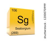 seaborgium chemical element... | Shutterstock . vector #1200070999