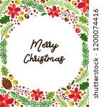 cute winter botanical banner   Shutterstock .eps vector #1200074416