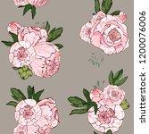 beautiful hand drawn bouquet of ...   Shutterstock .eps vector #1200076006