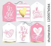 vector pink sticker set it s a...   Shutterstock .eps vector #1200076066