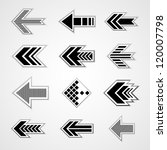 set of isolated arrows | Shutterstock .eps vector #120007798