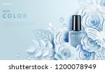 light blue nail lacquer ads... | Shutterstock .eps vector #1200078949