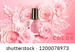 light pink nail lacquer ads... | Shutterstock .eps vector #1200078973