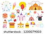 vector flat style set of... | Shutterstock .eps vector #1200079003