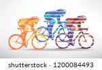 cycling race stylized... | Shutterstock .eps vector #1200084493