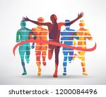 running athletes symbol  sport... | Shutterstock .eps vector #1200084496