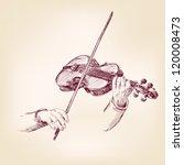 Violin   Vintage Hand Drawn...