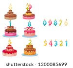 candle numbers for cake | Shutterstock .eps vector #1200085699