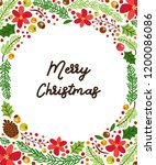 cute winter botanical banner...   Shutterstock . vector #1200086086