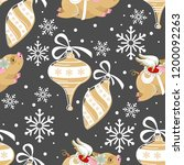 seamless pattern with christmas ... | Shutterstock .eps vector #1200092263