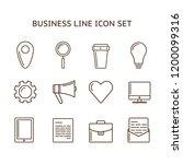 lline business icon set | Shutterstock . vector #1200099316