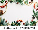 flat lay with festive... | Shutterstock . vector #1200102943