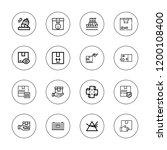 distribution icon set.... | Shutterstock .eps vector #1200108400