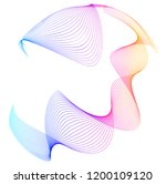 design elements. wave of many... | Shutterstock .eps vector #1200109120