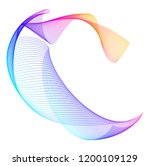 design elements. wave of many... | Shutterstock .eps vector #1200109129