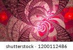 spiral universe.3d abstract... | Shutterstock . vector #1200112486
