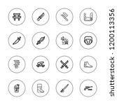 army icon set. collection of 16 ... | Shutterstock .eps vector #1200113356