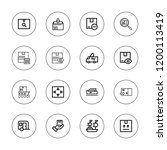 delivering icon set. collection ... | Shutterstock .eps vector #1200113419