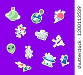 vector flat space icons...   Shutterstock .eps vector #1200113539