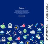 vector flat space icons... | Shutterstock .eps vector #1200113560