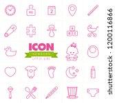 newborn vector icon set. little ... | Shutterstock .eps vector #1200116866