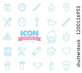 newborn vector icon set. little ... | Shutterstock .eps vector #1200116953
