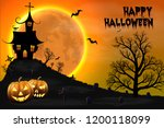 happy halloween night... | Shutterstock .eps vector #1200118099
