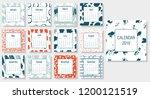 modern creative calendar 2019.... | Shutterstock .eps vector #1200121519