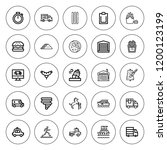 fast icon set. collection of 25 ... | Shutterstock .eps vector #1200123199