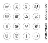 wildlife icon set. collection... | Shutterstock .eps vector #1200123229