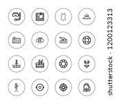swim icon set. collection of 16 ... | Shutterstock .eps vector #1200123313