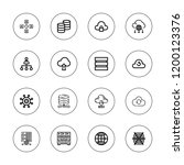 networking icon set. collection ...   Shutterstock .eps vector #1200123376