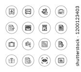 lock icon set. collection of 16 ... | Shutterstock .eps vector #1200123403