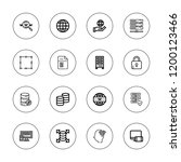 www icon set. collection of 16... | Shutterstock .eps vector #1200123466