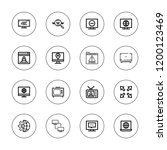 wide icon set. collection of 16 ... | Shutterstock .eps vector #1200123469
