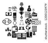 monetary expenses icons set.... | Shutterstock .eps vector #1200123979